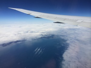 French Coast from plane