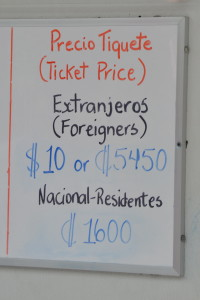 Kostarika Costa Rica gringo pricing